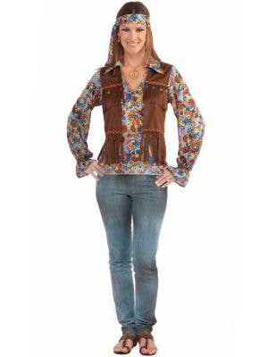 Women's Groovy Hippie Costume Main Image