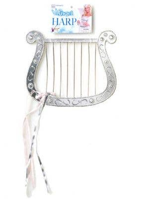 Novelty Silver Angel Harp Costume Accessory