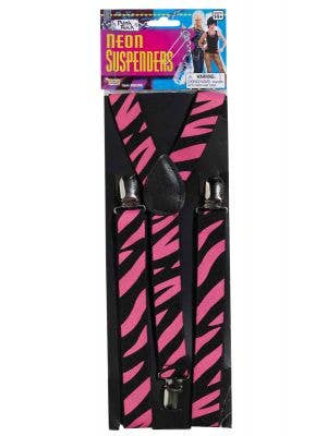 1980's Punk Rock Pink and Black Suspenders
