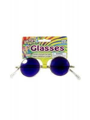 John Lennon Hippie Glasses - Blue