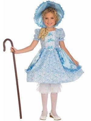 Girl's Bo Peep Blue Fancy Dress Costume Front