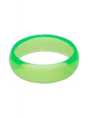1980's Neon Green Bangle Transparent Costume Bracelet