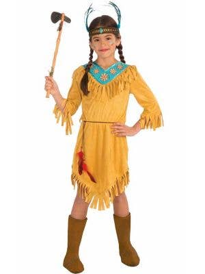 Girl's Native American Fancy Dress Costume Front View