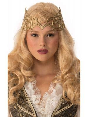 Medieval Latex Light Gold Costume Crown
