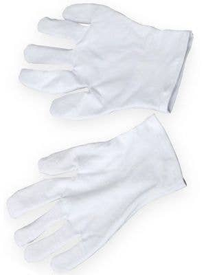 Basic White Costume Gloves for Men
