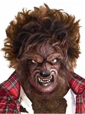 Men's Werewolf Spiked Brown Halloween Costume Wig