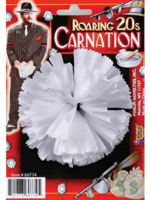1920's White Carnation Gangster Costume Accessory