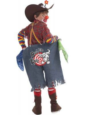 Boy's Rodeo Clown Funny Circus Costume Back