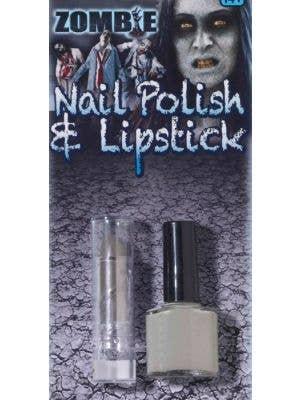 Zombie Grey Nail Polish and Lip Stick Set