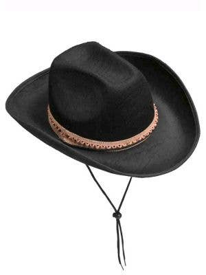 Black Feltex Wild West Cowboy Hat