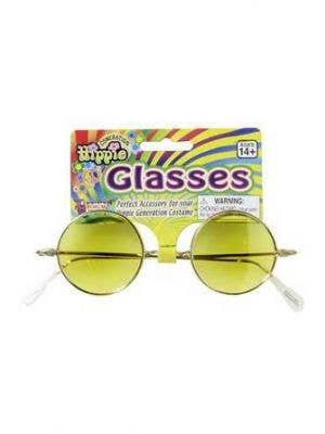 Groovy Baby Yellow Hippie Glasses