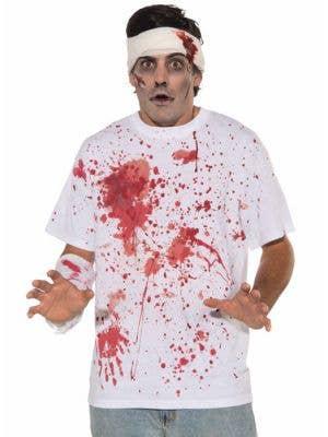 Blood Splattered T-Shirt Men's Halloween Costume