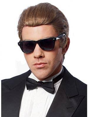 Men's Short Brown Costume Wig Front View