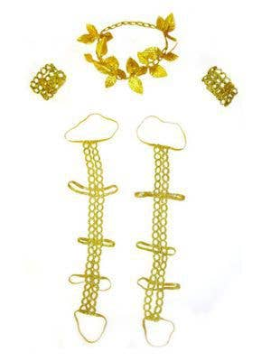 Gold Goddess Costume Accessory Set Main Image
