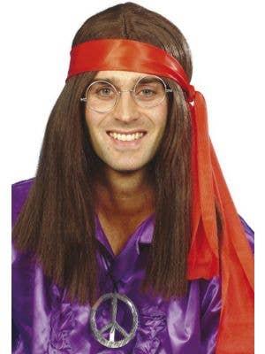 Groovy 70's Wig & Hippy Mens Kit