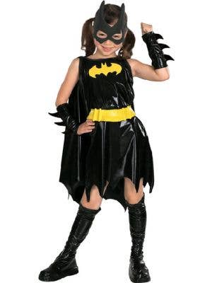 Girls' Superhero Batgirl Costume Front View