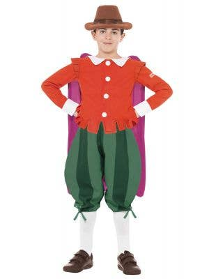 Boys Guy Fawkes Book Week Costume Front View