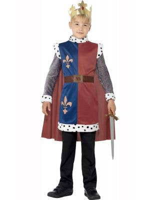 Boy's King Arthur Medieval Book Week Costume Front View