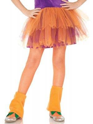Neon Orange Kids Novelty Costume Stockings