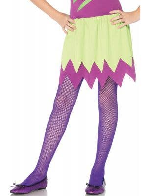 Purple Kids Fishnet Costume Tights by Leg Avenue