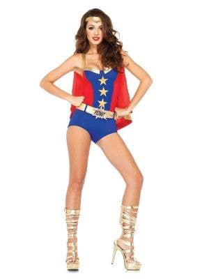 Sexy Superhero Women's Comic Book Costume Front Image