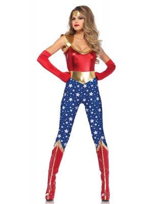 Sexy Wonder Woman Fancy Dress Costume for Women