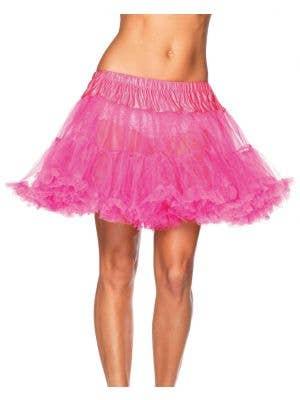 Women's Hot Pink Ruffled Thigh Length Costume Petticoat