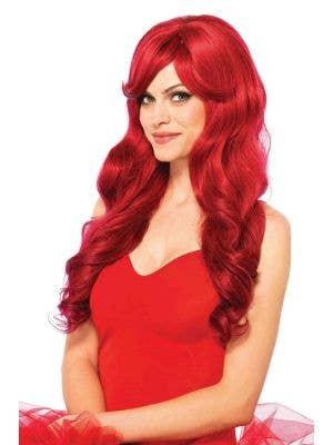Wavy Red Women's Ariel Costume Wig