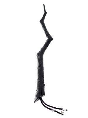 Crooked Black Witch Wand Halloween Accessory
