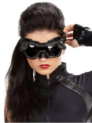 Catwoman Headpiece, Eyemask and Goggles Set