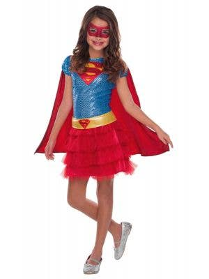 Supergirl Superhero Girl's Costume Dress Up Front View