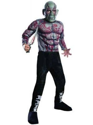 Drax Boy's Guardians of the Galaxy Movie Costume Front View