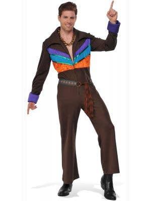 Men's 1970's Hippie Guy Fancy Dress Costume Main Image