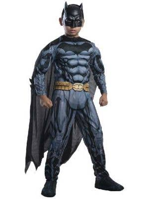 Boy's Batman Superhero Comic Book Costume Front View