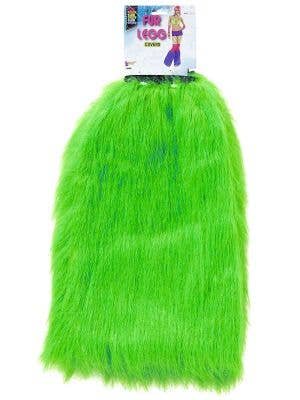 Forum Novelties Neon Green Fluffy Fur Leg And Boot Covers View 1