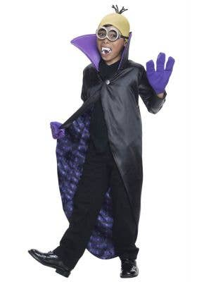 Minion Dracula Boy's Despicable Me Costume Front View
