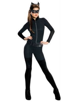 Catwoman Jumpsuit Women's Dark Knight Fancy Dress Costume