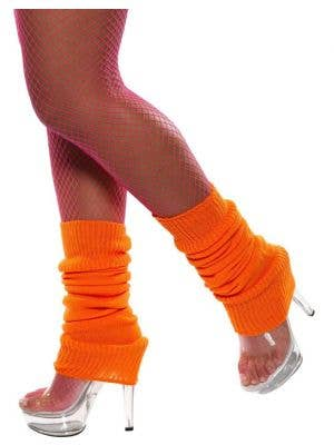 Back to the 80's Neon Orange Leg Warmers