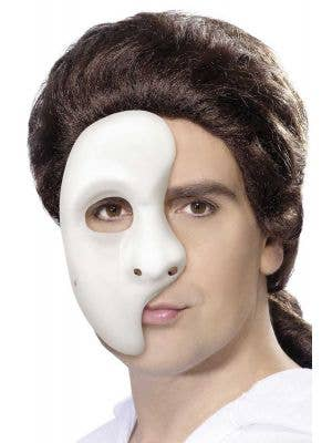 Simple White Plastic Phantom Over Eye Mask Main Image