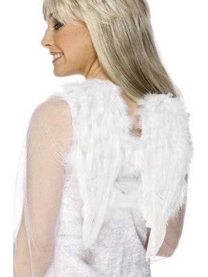 White Feather Mini Angel Wings Costume Accessory
