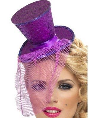 Fever Glitter Mini Top Hat - Purple