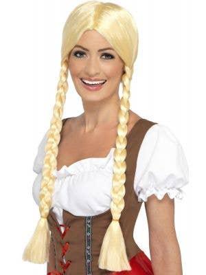 Bavarian Beauty Women's Plaited Blonde Oktoberfest Wig