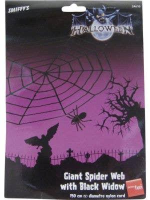 Giant Spider Web with Spider Halloween Decoration