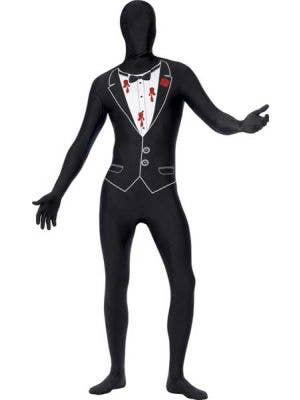 Men's Novelty Shot Gangster Skin Suit Costume Front