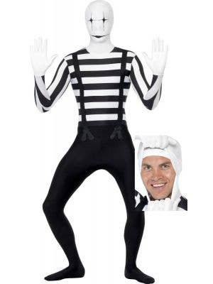 Mime Second Skin Fancy Dress Costume