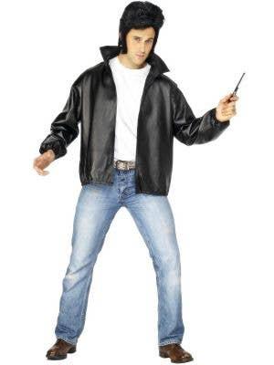 Men's T-Birds Grease Fancy Dress Costume Jacket Front