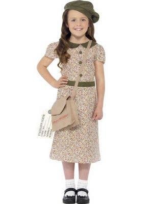 1940's Girls Wartime Costume Dress Front View