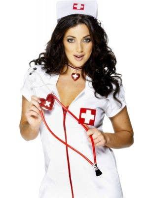 Nurse's Red Heart Shaped Stethoscope