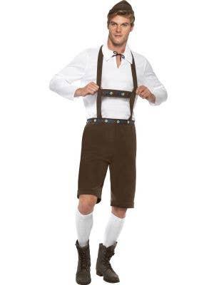 Men's German Lederhosen Fancy Dress Costume