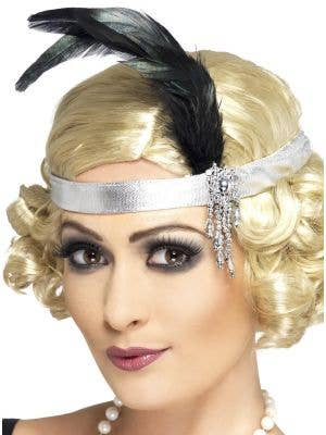 Charleston 1920's Silver Flapper Headband Costume Accessory